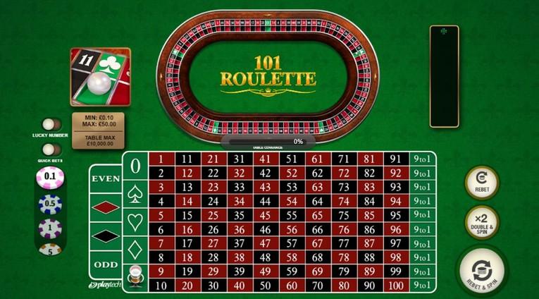 101 Roulette Table