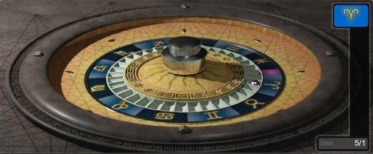 Astro Roulette Wheel