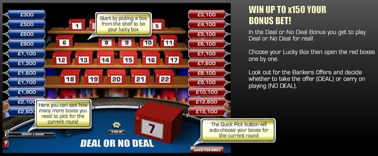 Deal or No Deal Roulette Red Box Bonus