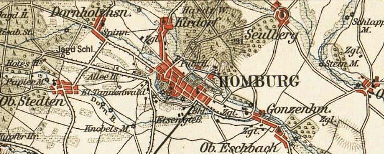 Homburg Rail Map