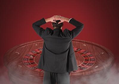 Man Watching Roulette Wheel
