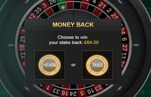 MOney Back Roulette Coin Toss
