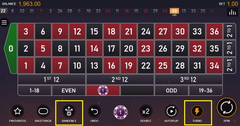 Multifire Roulette Interface