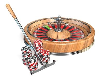 Roulette Wheel and Rake