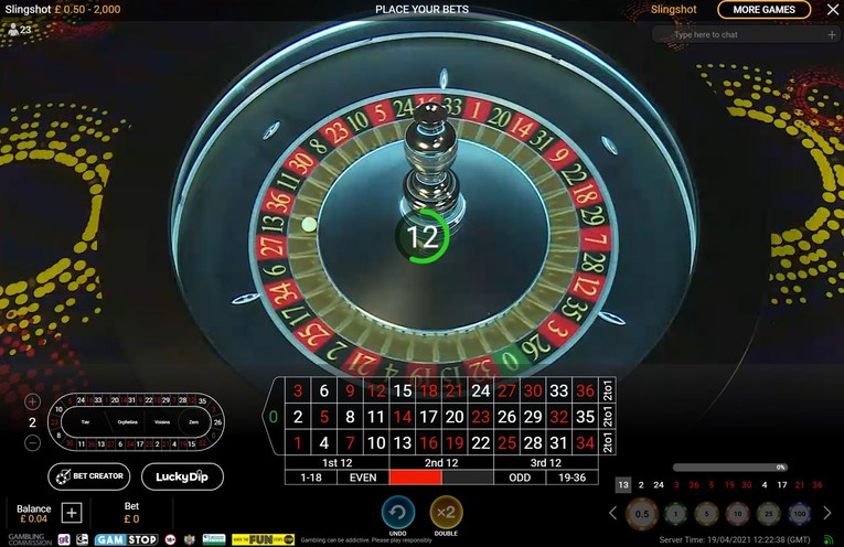 Slingshot Roulette Interface