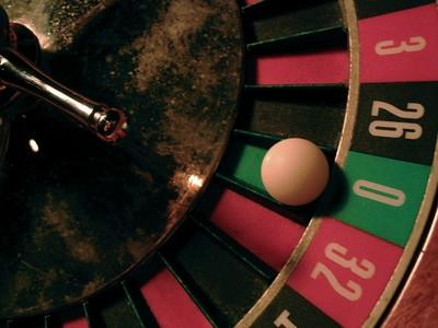 Worn Roulette Wheel